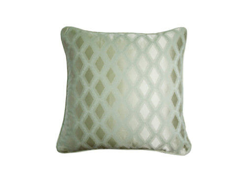 Декоративная подушка блестящая зеленая