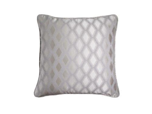 Декоративная подушка блестящая серая