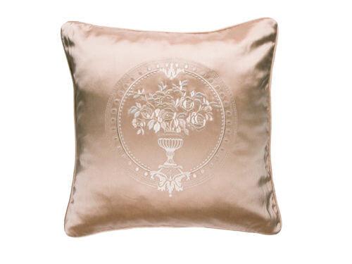 Декоративная подушка блестящая золотая с узором