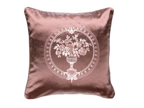 Декоративная подушка блестящая бронза с узором
