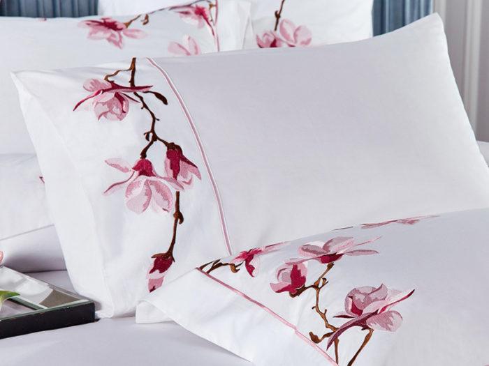 Постельное белье Asabella белое с рисунками хлопок